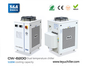 S&A chiller CW-6200 with single pump & dual temperature for fiber lase